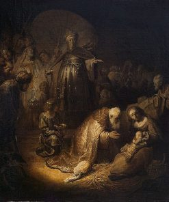 Adoration of the Magi | Rembrandt van Rijn | Oil Painting