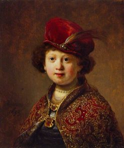 A Boy in Fanciful Costume (workshop) | Rembrandt van Rijn | Oil Painting