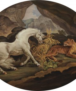A Horse Frightened by a Lioness   George Stubbs   Oil Painting
