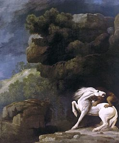 A Lion attacking a Horse   George Stubbs   Oil Painting