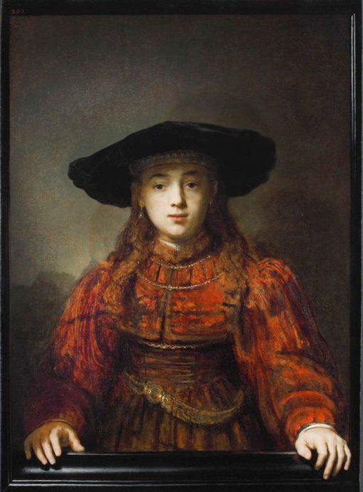 The Girl in the Picture Frame(also known as The Jewish Bride) | Rembrandt van Rijn | Oil Painting
