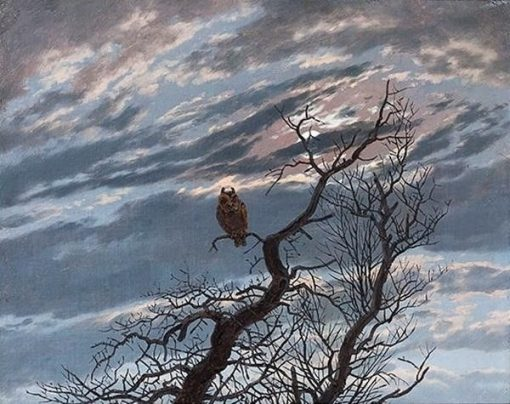 An Owl on a Bare Tree | Caspar David Friedrich | Oil Painting