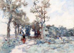 Picking Berries on a Summer Day | Johannes Evert Hendrik Akkeringa | Oil Painting