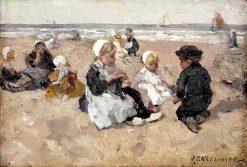 A Day at the Beach | Johannes Evert Hendrik Akkeringa | Oil Painting