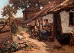 Behind the House | Johannes Evert Hendrik Akkeringa | Oil Painting