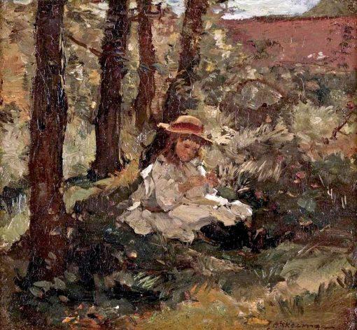 Girl in the Shade | Johannes Evert Hendrik Akkeringa | Oil Painting