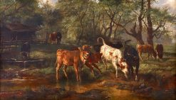 Cows Watering   Rosa Bonheur   Oil Painting