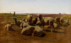 Watching over the Flock   Rosa Bonheur   Oil Painting